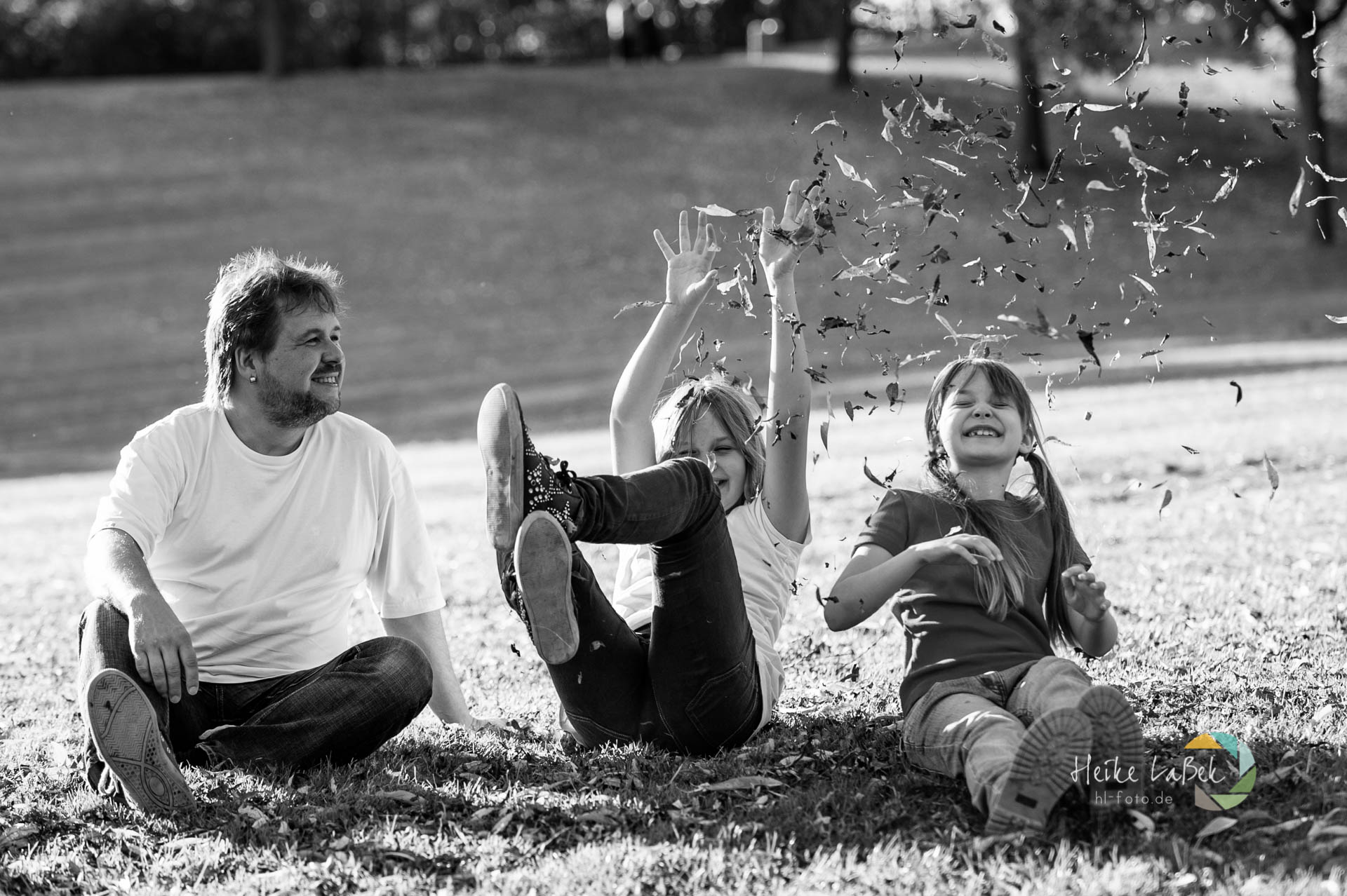 Familienfotografie mit Spaß